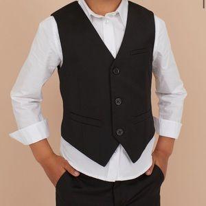 H&M Black Toddler Suit Formal Vest and Pants 2-3